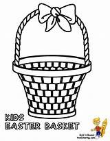 Easter Coloring Basket Baskets Empty Boys Printable Colouring Yescoloring Handsome Comments sketch template