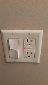 Electrical gfci outlet red light home improvement