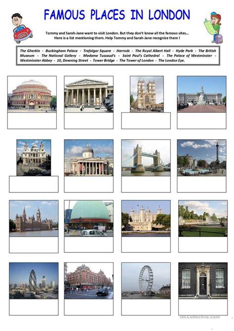 famous places  london worksheet  esl printable