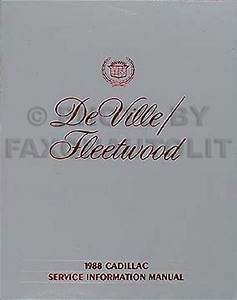 1988 Cadillac Deville And Fleetwood Repair Shop Manual Original