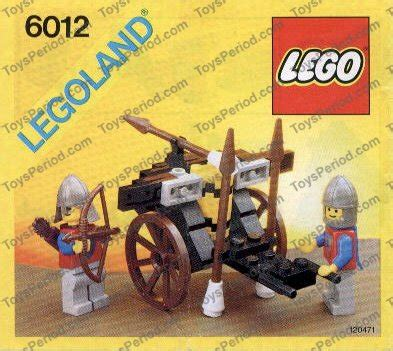 siege v駘o lego 6012 siege cart set parts inventory and lego reference guide