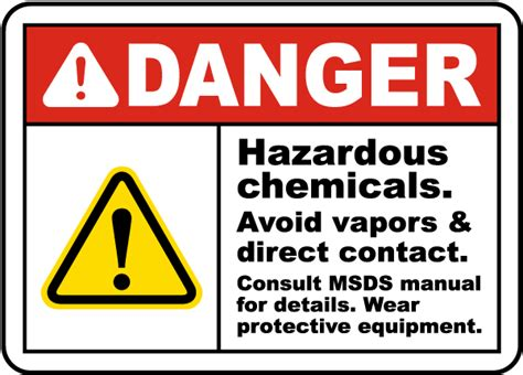 Danger Hazardous Chemicals Sign G4868