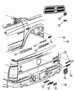 Dodge Ram 2500 Nameplate  Tailgate  Laramie Longhorn