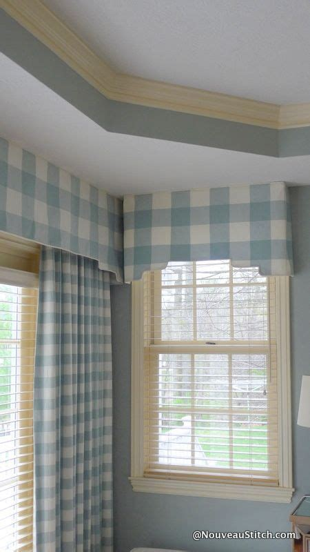 pale blue gingham curtains soft furnishings