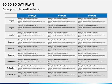 day plan powerpoint template sketchbubble