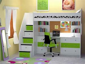 how to build a full size loft bed with desk Quick
