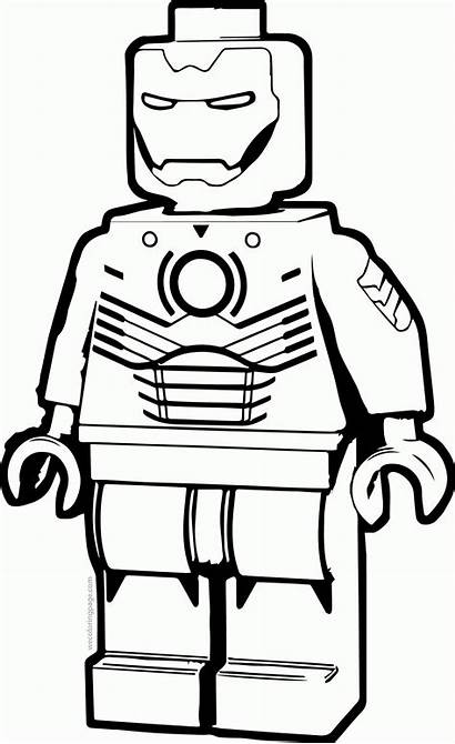 Iron Coloring Dibujos Marvel Lego Colorear Batman