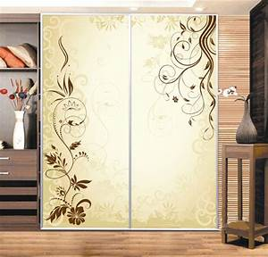 custom cabinet stickers closet sticker simple golden vine With stickers pour porte de placard coulissante