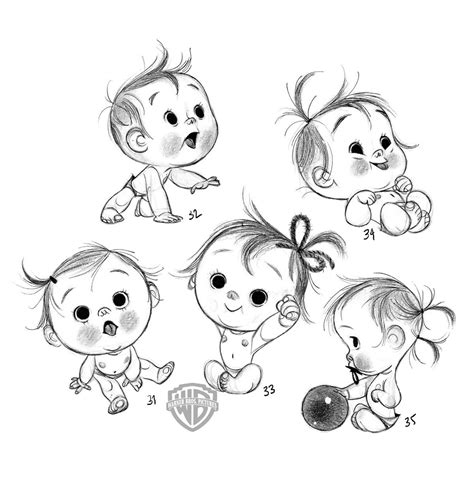 simply adorable anette marnat  storks  sketch