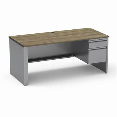 Desk Teacher Right Pedestal Rectangle