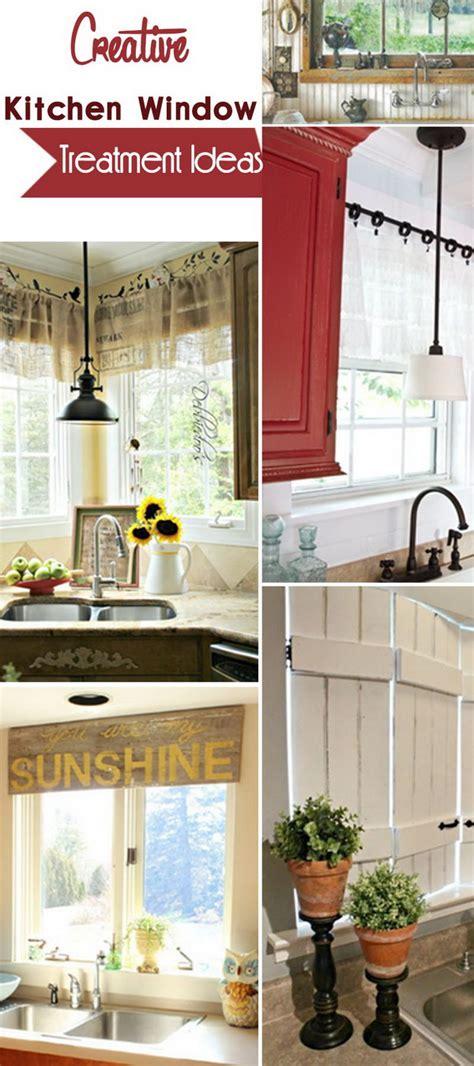 window treatment ideas for kitchen creative kitchen window treatment ideas hative