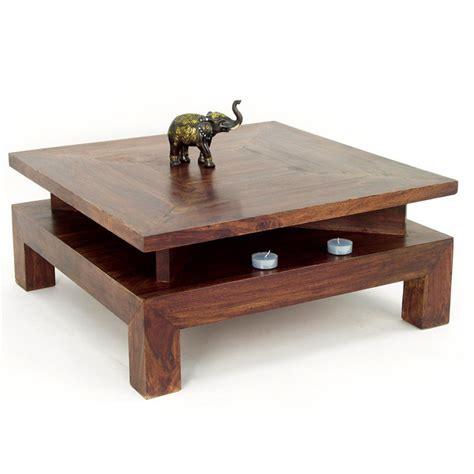 canapé style indien table basse carrée en palissandre mobilier ethnique