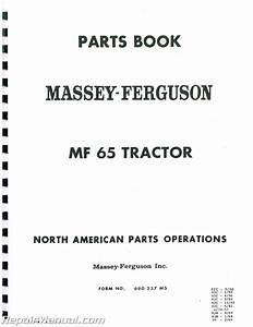 Massey Ferguson Mf65 Glpdsl Parts Manual
