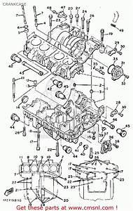 Yamaha Xj700 Maxim 1985  F  Usa Crankcase