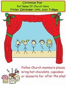 Printable Christmas Play Invitations For Church