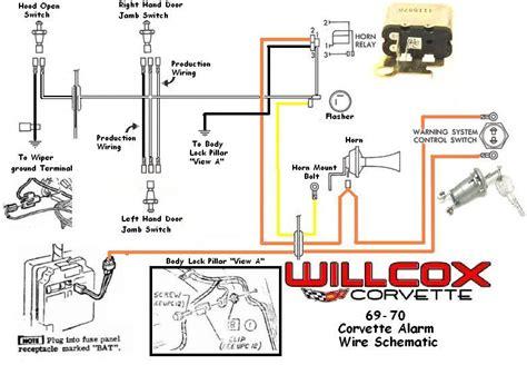 Interior Light Wiring Diagram For 1993 Corvette by 1969 1970 Corvette Corvette Wire Schematic Alarm System