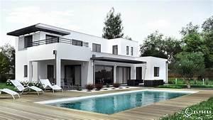 dompierre maison d39architecte avec mur rideau With modele de maison en l 2 photos maison darchitecte contemporaine