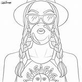 Coloring Pages Adult Printable Sheets Drawings Colouring Therapy Colorfy Adults Outline Girly Books Easy Blank Aesthetic Summer Grown Ups Digi sketch template