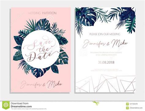 Save The Date Tropical Invitation Design Modern Wedding