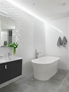 Carrelage Salle De Bain Blanc : carrelage salle de bain blanc relief ~ Melissatoandfro.com Idées de Décoration