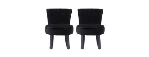 petit fauteuil crapaud noir lot de 2 achetez nos