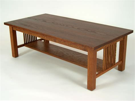 stickley coffee table plans