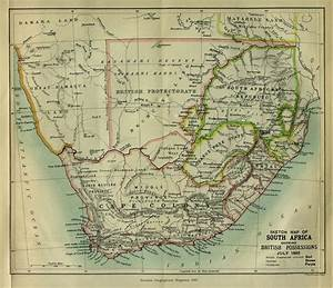 Sketch Map Of South Africa  Showing British Possessions  July 1885