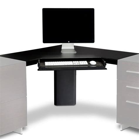 Bdi Sequel Corner Desk by Corner Desk Keyboard Tray Whitevan