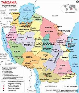#Tanzania political #map features regions boundaries with ...