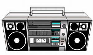 80s Boom Box Clipart