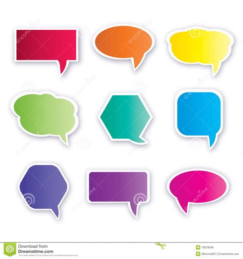 collection of dialog balloons stock vector illustration of icon discussion 19218046