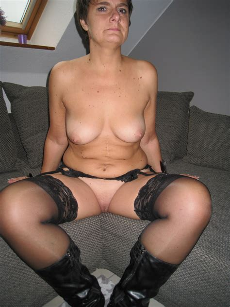 Slutwife Anna In Sexy Black Lingerie Looking Sexy And