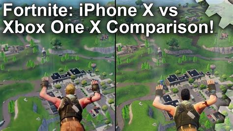 fortnite mobile  console compared   iphone