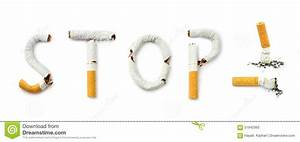 Cigarettes With Stop Smoking Concept Text Stock Photo ...