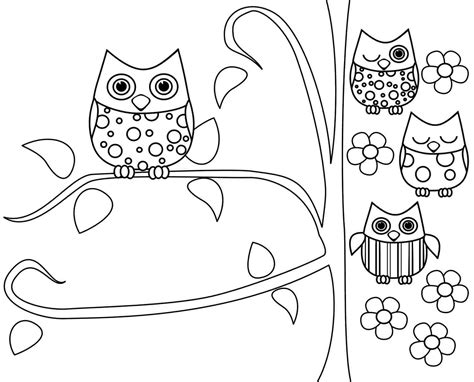 Owl Coloring Pages Printable For Kids Coloringstar