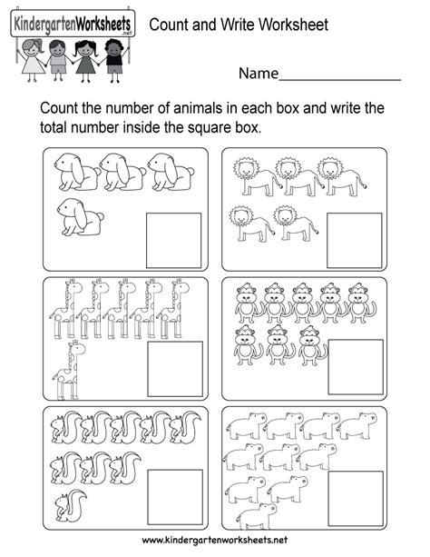Count And Write Worksheet  Free Kindergarten Math Worksheet For Kids