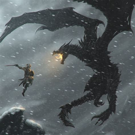 Skyrim Fighting The Dragon Sketch Up Video Game Logic