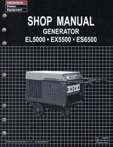Honda El5000 Ex5500 Es6500 Generator Shop Manual