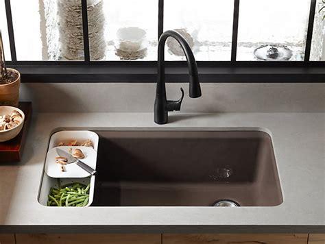 kohler kitchen sink accessories k 5871 5ua3 riverby mount kitchen sink with 6686