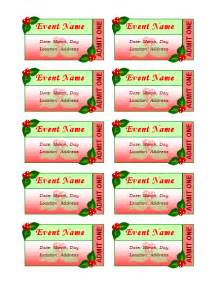 christmas ticket templates free search results calendar 2015