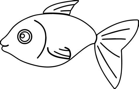 cartoon basic fish coloring page sheet wecoloringpagecom