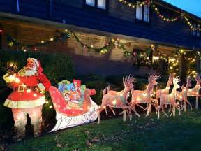 mike makes a u bild santa and reindeer lawn display from scratch vintage plans still available