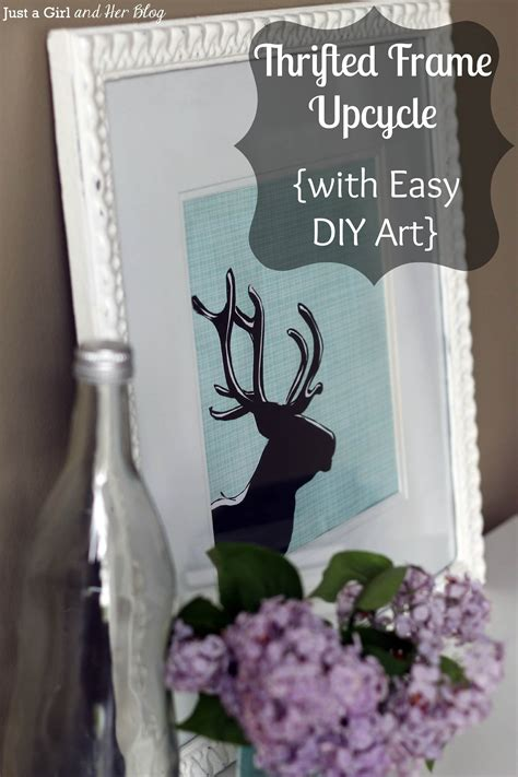 Thrifted Frame Upcycle With Easy Diy Art