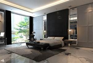 bedroom feature wall black interior design ideas With interior design bedroom feature wall