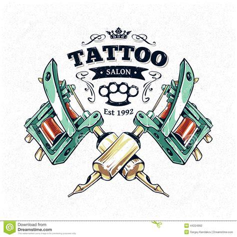 tattoo studio poster stock vector image