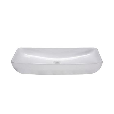 white rectangular vessel sink ryvyr above counter rectangular vitreous china vessel sink