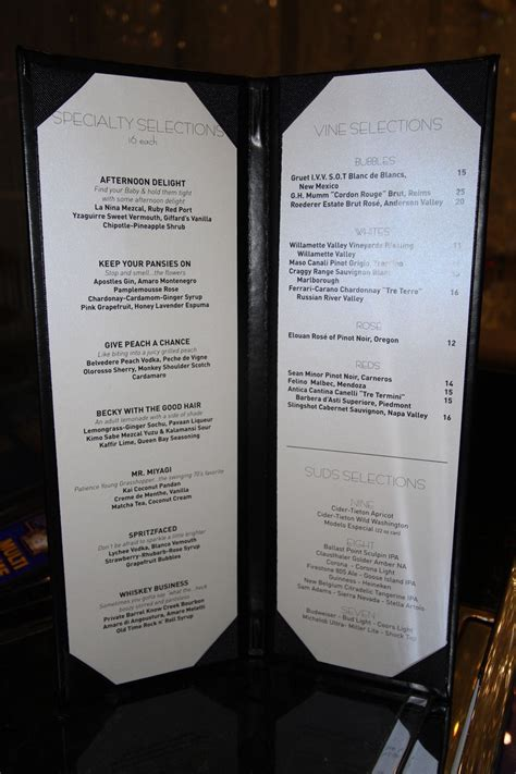 Chandelier Bar Menu las vegas exploring cosmopolitan comp drink monitoring