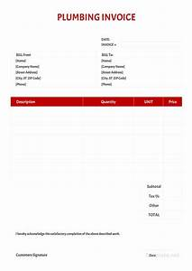 How To Create An Invoice In Excel Free Plumbing Invoice Template Pdf Word Doc Excel