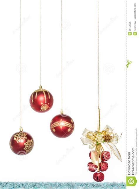 luxury red christmas ball  jingle bell hanging