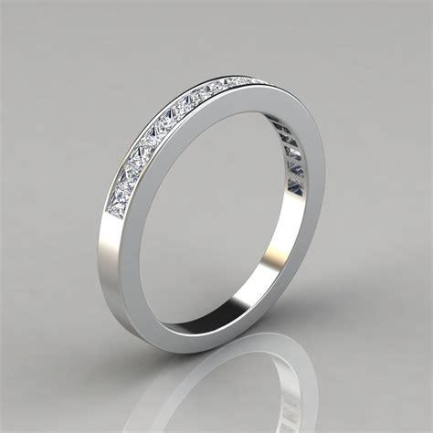0 82ct channel set wedding band ring forever moissanite